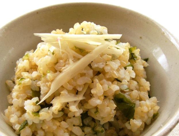 新生姜とワカメの玄米ご飯